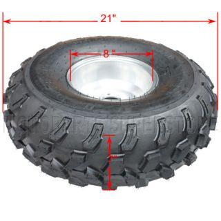 21x7 8 Wheel Tire Wheels Rim ATV Go Kart 125cc 150cc 200cc Taotao SunL