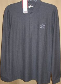 and Buck Tour Long Sleeve Atwell Polo LG Charcoal Heather