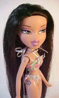 Bratz girl doll with flower tattoo on her hip, long hair & itty bitty