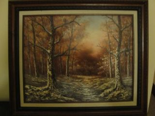 Vintage oil painting on canvas signed by Aronson
