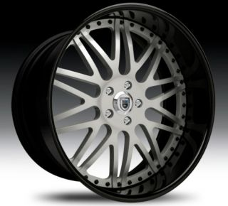 20 asanti AF120 Black Silver Wheels Rims 3 Piece