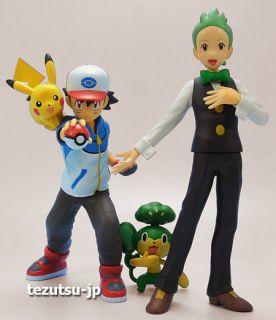 Pokemon Ash Ketchum Satoshi Pikachu Cilan Dento Pansage Yanappu Figure