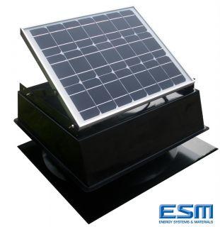Solar Powered Attic Fan 20W PV 1300CFM Venting Ability