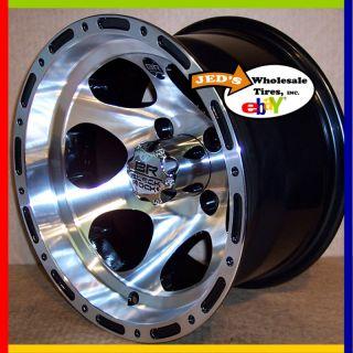 12 Black Rock Series Revo ATV Rims Wheels for Polaris