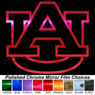 Auburn Tigers 4 Pink Chrome Auto Window Sticker Decals