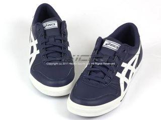 Asics Alton Blue White Classic 2011 Mens Low Leather Casual TQA294