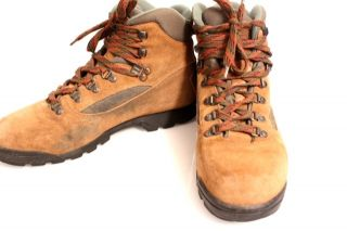 Asolo Vintage Womens Brown Suede Hiking Boots Size 10