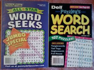 Dell PennyPress Word Search Word Seeks Puzzle Books 2012 Issues