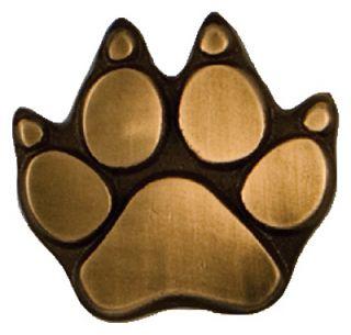 Michael Healy Designs Bronze Dog Paw Door Bell Ringer