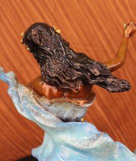 Auguste Moreau Enchanting Beauty Bronze Sculpture Art Deco Marble Base