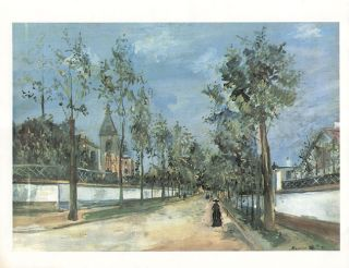 Maurice Utrillo Print A Street in The Suburbs