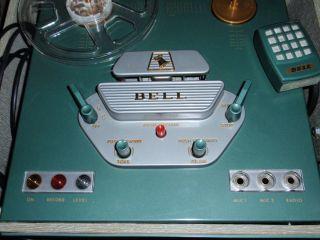 Vinage Porable 1956 Bell Reel o Reel Sound Recorder Player Model R