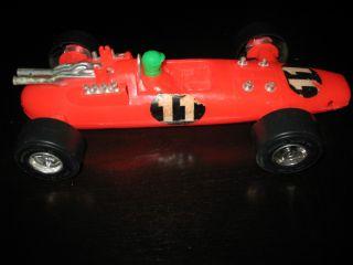 AURORA INDY RACE CAR RACER RED 11 PLASTIC AURORA IL CO VINTAGE