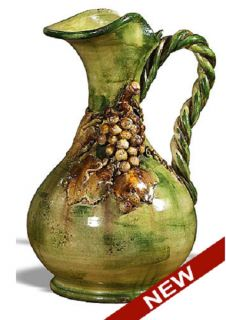 Intrada Italian Ceramic Majolica Roma Decoratice Large Pitcher Jug