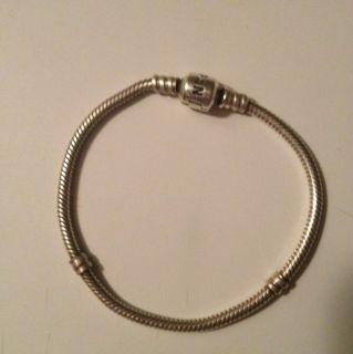 Authentic Pandora Sterling Silver 7 Bracelet
