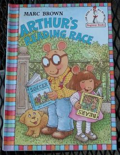 Arthurs Reading Race Marc Brown I Can Read It Beginner Book VG