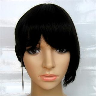 10.24 Off Black Asymmetric Bob Wig 100% Human Hair Wigs