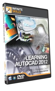 InfiniteSkills Beginners AutoCAD 2012 Tutorial Video Training DVD ROM