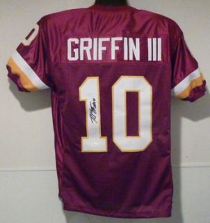 RG3 Autographed Signed Washington Redskins Red Size XL Jersey