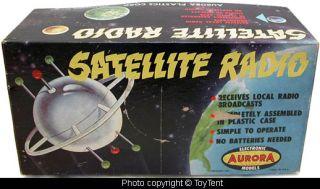 Aurora Satellite Radio 1957 Electronic Model Kit Completed Boxed Set