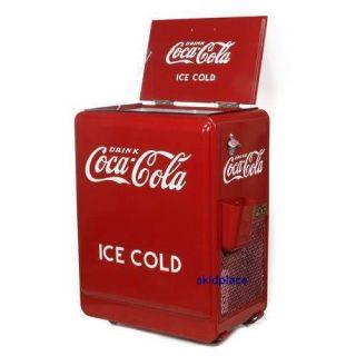 Retro 1930s Style Coca Cola Ice Box Coke Machine New