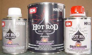 Auto Body Paint SEM Hot Rod Black Qt Kit Color Horizons