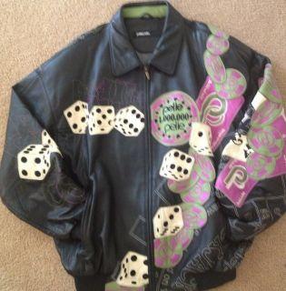 Marc Buchanan Pelle Pelle Rare Vintage Soda Club Leather Jacket 50
