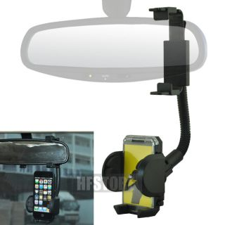 Car Rearview Mirror Mount GPS Holder for Apple iPhone 3G 3GS 4G 4S 5g