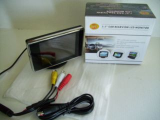 LCD TFT Car Monitor with Auto Backup Reverse Dual Video Inputs PAL