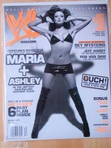 WWE wrestling magazine/Divas Maria & Ashley 11 06