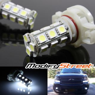 18 5050 SMD White LED Fog Lights Parking Turn Signal Lamp Bulbs