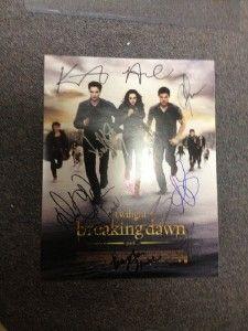 Twilight Breaking Dawn 2 Signed Cast Poster Robert Pattinson Lautner