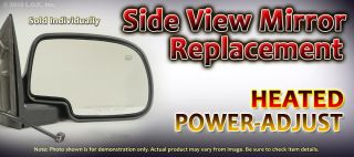 SUV Driver LH Left Heat Puddle Light Power Side View Mirror