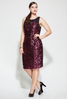 Avenue Plus Size Sleeveless Sequin Sheath Dress