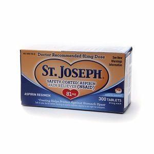 St Joseph Aspirin 81 MG Baby Aspirin Low Dose 300 Enteric Coated Tabs