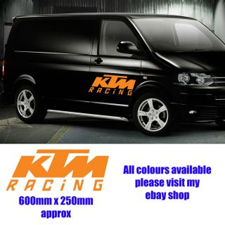 KTM Racing MX Motocross Van Car Stickers Decals Window Vinyl