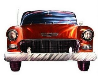New Large 55 Chevy Metal Wall Art Chevrolet Car Decor