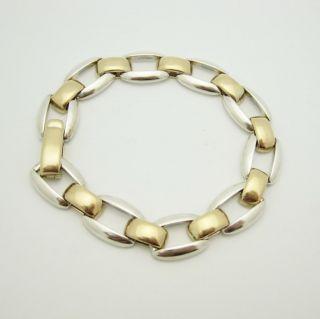 Retired James Avery Sterling Silver 14k Gold Link Bracelet
