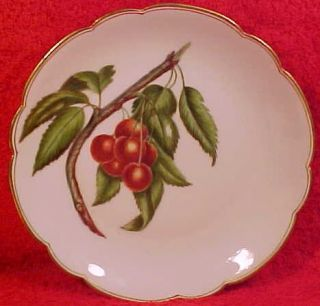 Antique Haviland Limoges Hand Painted Cherries and Leaves Porcelain