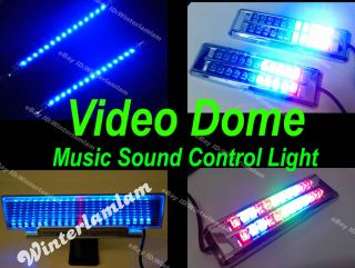 Multicolor Blue LED Car Sound Effect Control Music Light Panel w