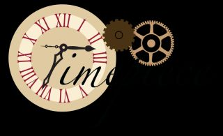 Bo Bunny Timepiece Die Cut Clock Steampunk 1 Paper Card