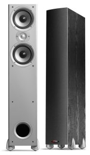 pair monitor 50 black tower speakers polk audio incredible sound