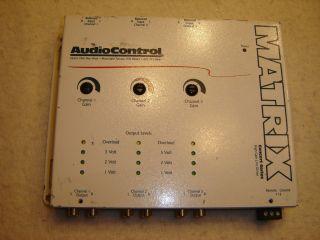 AUDIOCONTROL MATRIX PRE AMP 6 CHANNEL CH LINE DRIVER AUDIO CONTROL