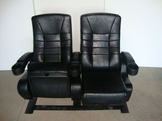 Theater Chairs Home Theatre Chair Movie Seats Cinema Black Leatherette