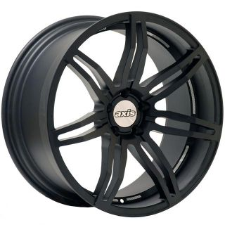 20 AXIS ANGLE Matte Black Wheels Rims Fit BMW E60 E61 5 series (2003