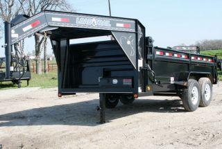 Gooseneck Hydraulic Dump Disaster Relief Trailer with 7K Axles