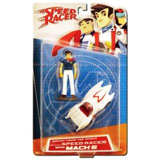 SPEED RACER DIE CAST CLASSIC SPEED RACER & MACH 5   ART ASYLUM