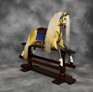 Extra Large F H Ayres Rocking Horse Antique Circa 1910 Fully Restored