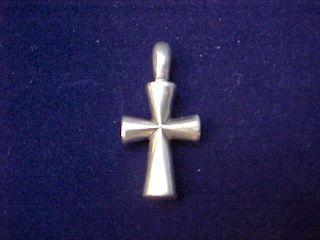 James Avery Sterling Silver St Teresa Cross Pendant Charm