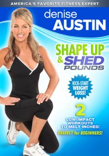 Denise Austin Shape Up and Shed Pounds 2 Workouts DVD New SEALED